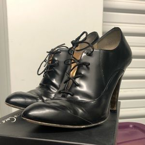 Kenneth Cole Collection Black Lace-Up Booties